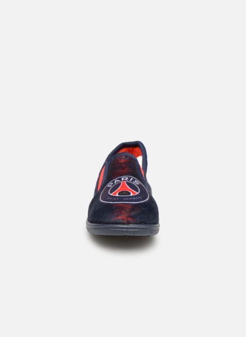 Chaussons PSG FAVIER Bleu vue portées chaussures
