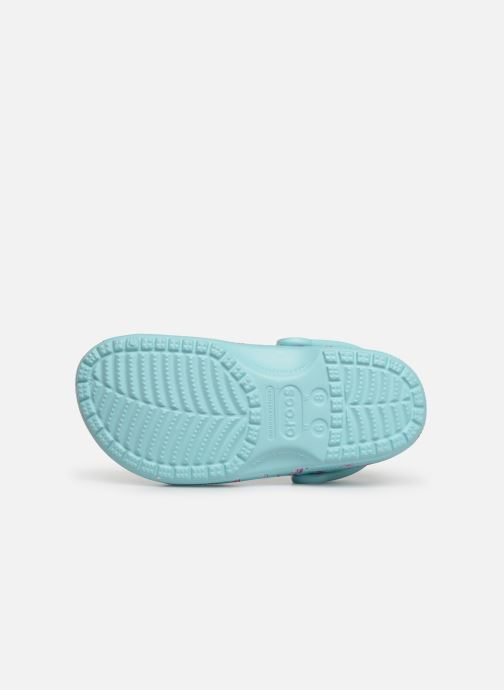 Mules et sabots Crocs Classic Seasonal Graphic Clog F Bleu vue haut