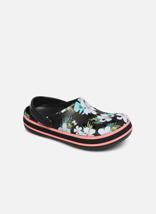 Wedges Crocs Crocband Seasonal Graphic Clog F Zwart detail