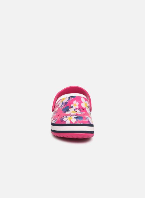 Mules et sabots Crocs Crocband Seasonal Graphic Clog F Rose vue portées chaussures