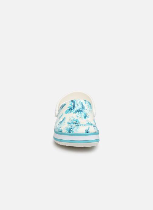 Mules et sabots Crocs Crocband Seasonal Graphic Clog F Bleu vue portées chaussures