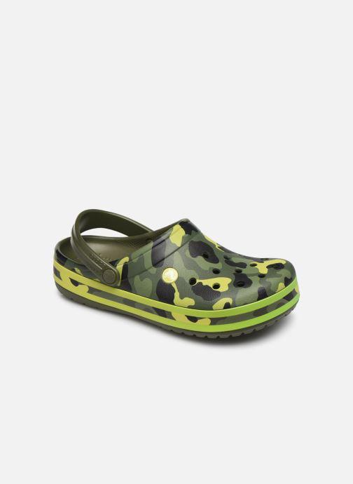 Zuecos Crocs Crocband Seasonal Graphic Clog F Verde vista de detalle / par