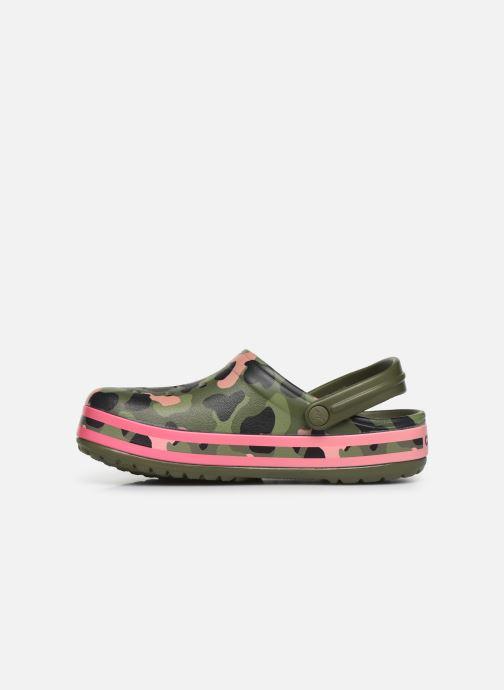 Mules et sabots Crocs Crocband Seasonal Graphic Clog F Vert vue face