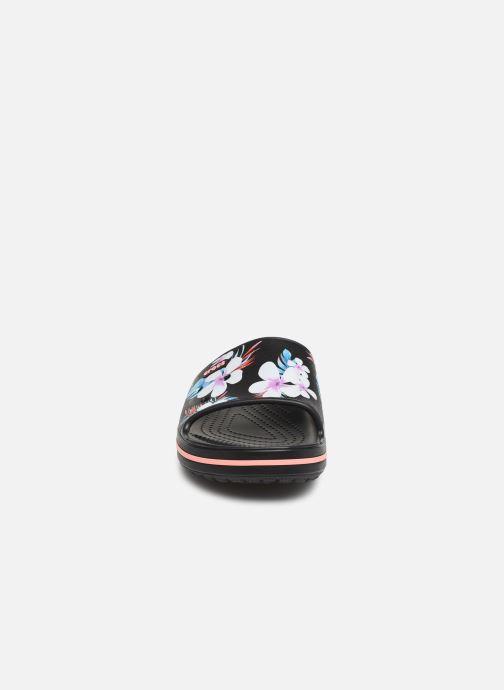 Mules et sabots Crocs Crocband III Seasonal Graphic Slide F Noir vue portées chaussures