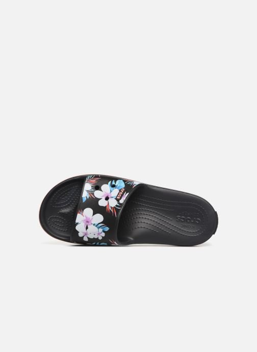 Clogs & Pantoletten Crocs Crocband III Seasonal Graphic Slide F schwarz ansicht von links
