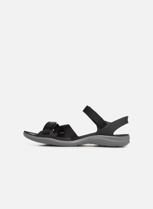 Sandalias Crocs Swiftwater Webbing Sandal W Negro vista de frente