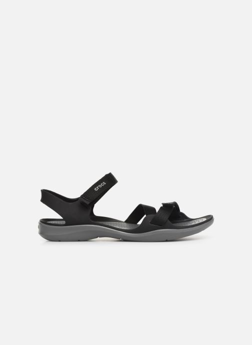 Sandalias Crocs Swiftwater Webbing Sandal W Negro vistra trasera