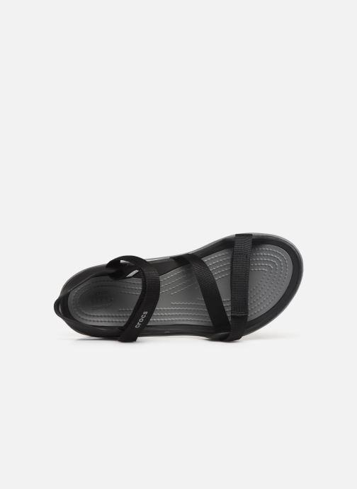 Sandalias Crocs Swiftwater Webbing Sandal W Negro vista lateral izquierda