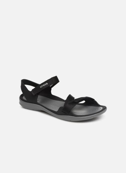 Sandales et nu-pieds Crocs Swiftwater Webbing Sandal W Noir vue détail/paire
