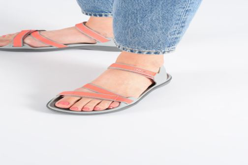 Sandals Crocs Swiftwater Webbing Sandal W Blue view from underneath / model view