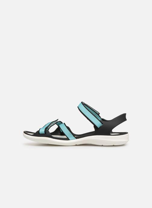 Sandales et nu-pieds Crocs Swiftwater Webbing Sandal W Bleu vue face