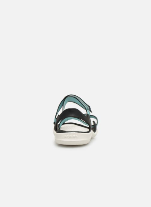 Sandals Crocs Swiftwater Webbing Sandal W Blue view from the right
