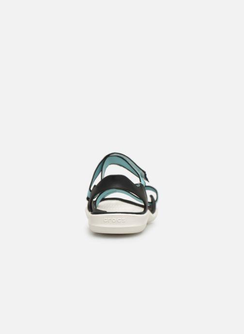 Sandales et nu-pieds Crocs Swiftwater Webbing Sandal W Bleu vue droite