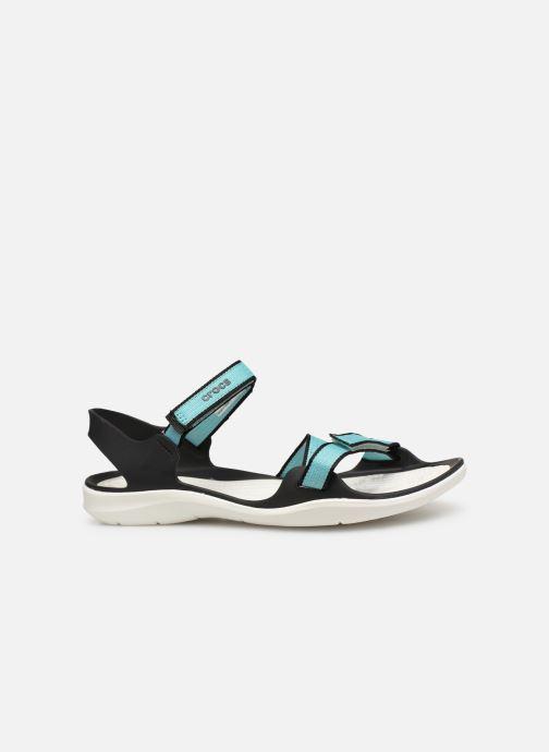 Sandales et nu-pieds Crocs Swiftwater Webbing Sandal W Bleu vue derrière