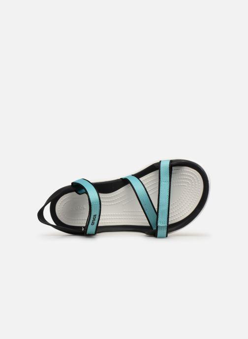 Sandalias Crocs Swiftwater Webbing Sandal W Azul vista lateral izquierda