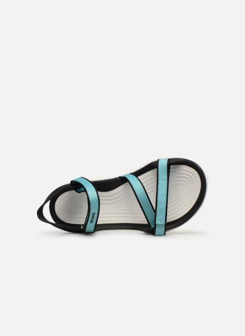 Sandals Crocs Swiftwater Webbing Sandal W Blue view from the left