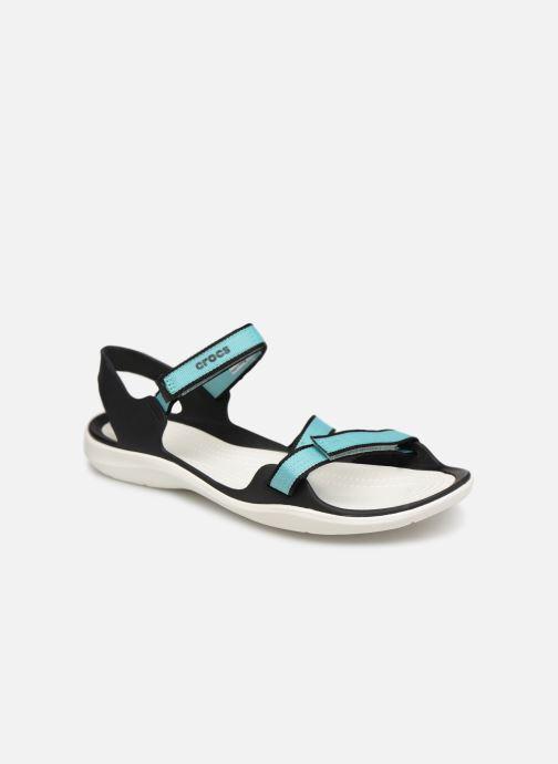 Sandales et nu-pieds Crocs Swiftwater Webbing Sandal W Bleu vue détail/paire