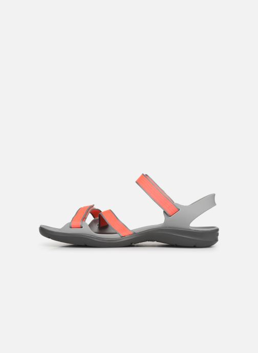 Sandalias Crocs Swiftwater Webbing Sandal W Gris vista de frente