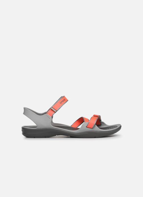 Sandalias Crocs Swiftwater Webbing Sandal W Gris vistra trasera