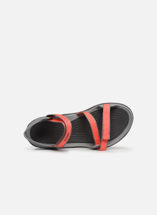 Sandalias Crocs Swiftwater Webbing Sandal W Gris vista lateral izquierda