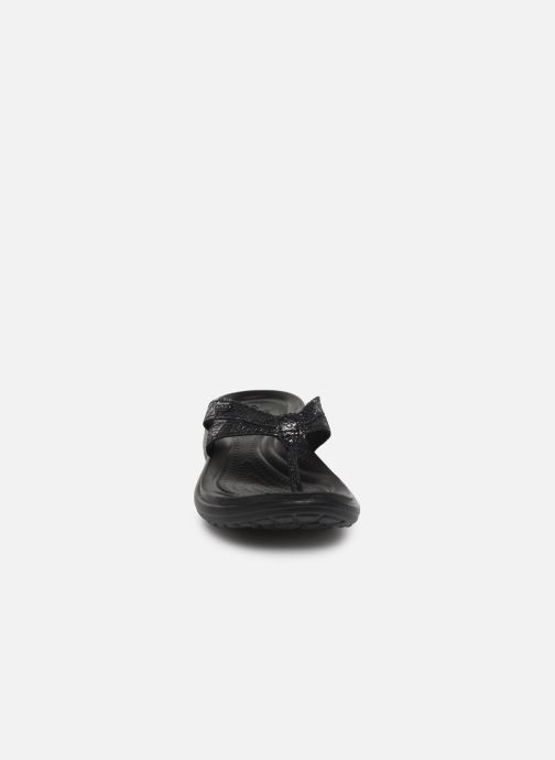 black Capri Strappy Black Tongs Flip W Crocs TPZXikuO