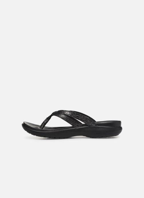 Flip flops Crocs Capri Strappy Flip W Black front view