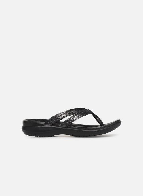Flip flops Crocs Capri Strappy Flip W Black back view
