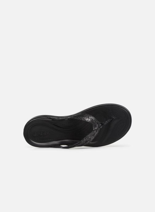 Crocs Strappy Flip W Capri Black black v6IYf7gby