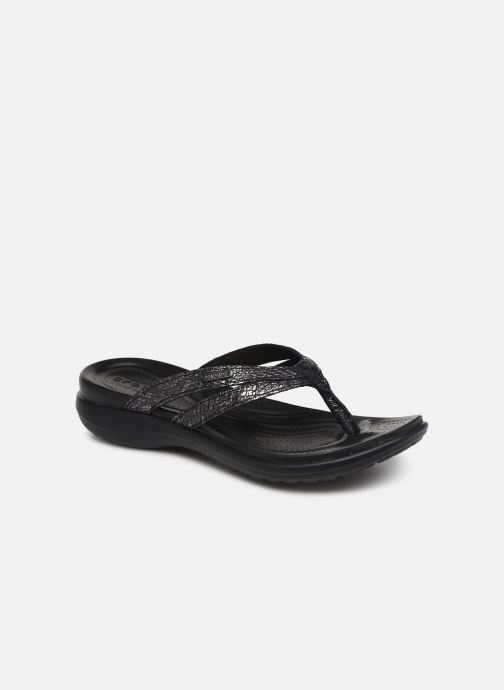 Flip flops Crocs Capri Strappy Flip W Black detailed view/ Pair view
