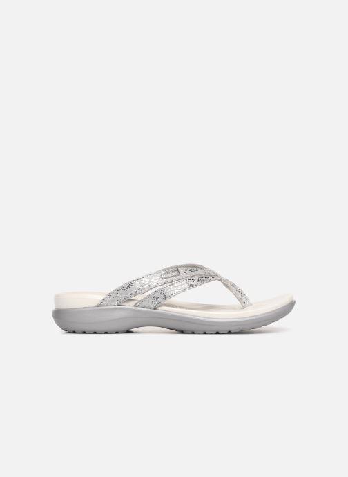 Zehensandalen Crocs Capri Strappy Flip W silber ansicht von hinten