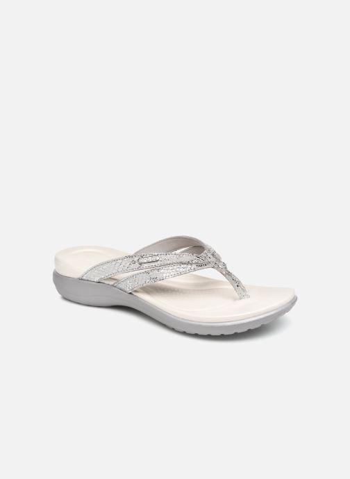 Zehensandalen Crocs Capri Strappy Flip W silber detaillierte ansicht/modell