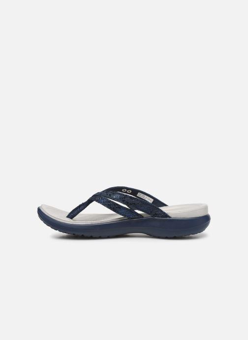 Slippers Crocs Capri Strappy Flip W Blauw voorkant