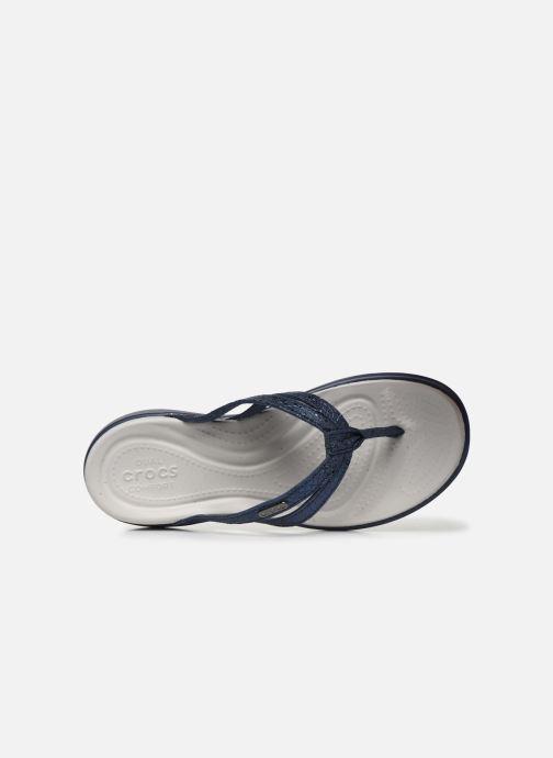 Slippers Crocs Capri Strappy Flip W Blauw links