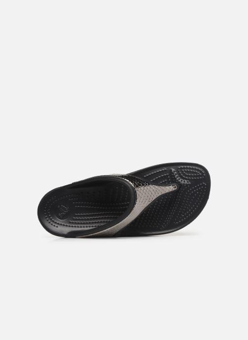 Tongs Crocs Crocs Sloane MetalTxt Flip W Noir vue gauche
