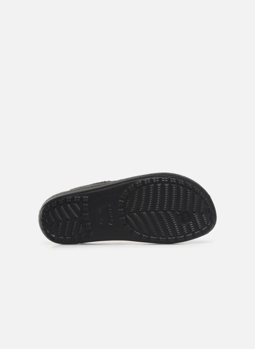 Tongs Crocs Crocs Sloane MetalTxt Flip W Noir vue haut