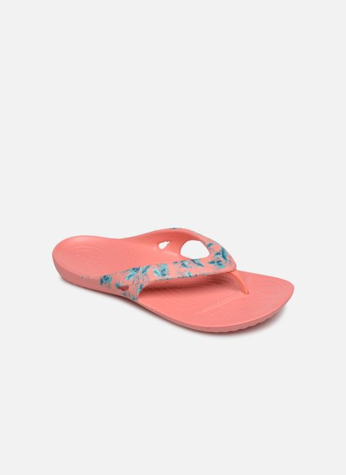 Tongs Crocs Kadee II Seasonal Flip W Rose vue détail/paire