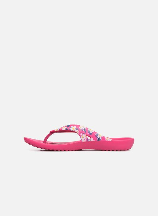 Tongs Crocs Kadee II Seasonal Flip W Rose vue face
