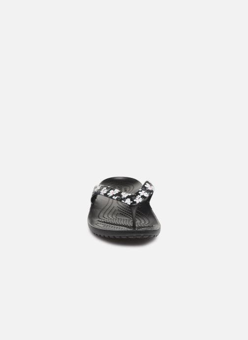 Tongs Crocs Kadee II Seasonal Flip W Noir vue portées chaussures