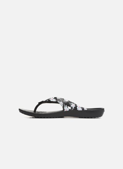 Chanclas Crocs Kadee II Seasonal Flip W Negro vista de frente