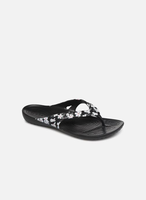 Chanclas Crocs Kadee II Seasonal Flip W Negro vista de detalle / par