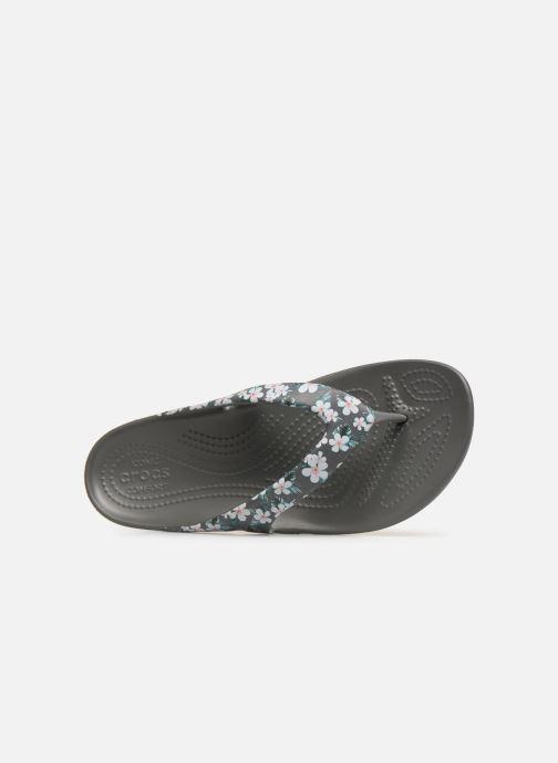 Tongs Crocs Kadee II Seasonal Flip W Gris vue gauche