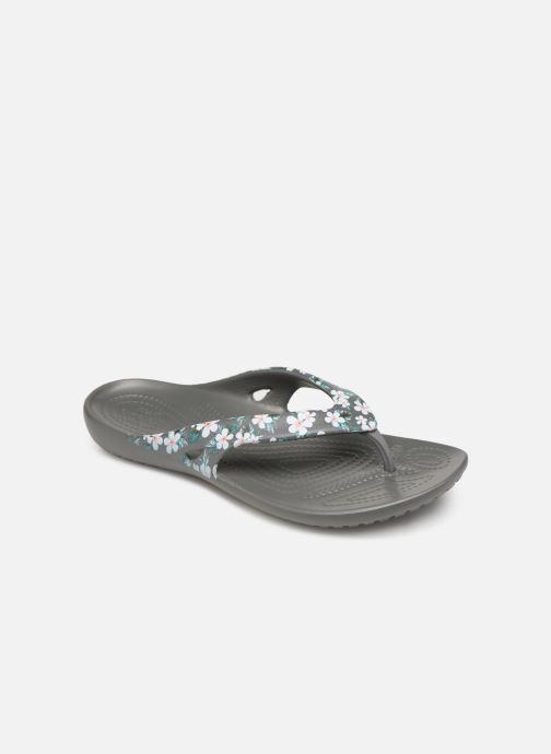 Tongs Crocs Kadee II Seasonal Flip W Gris vue détail/paire