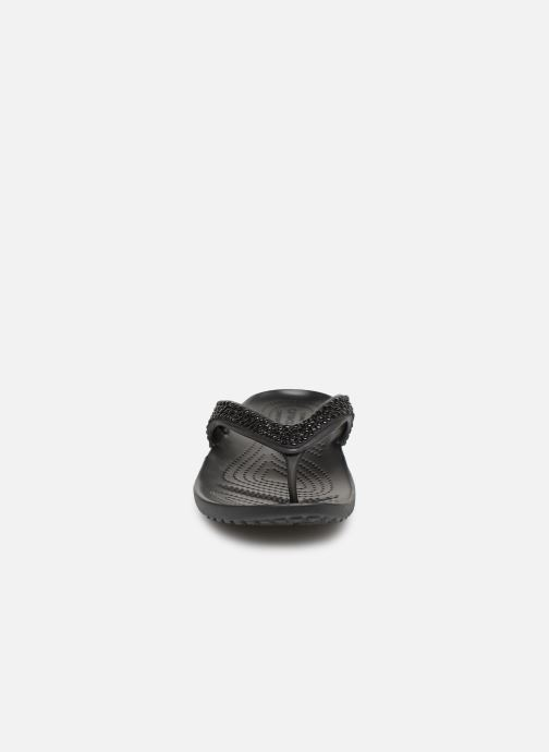 Tongs Crocs Kadee II Embellished Flip W Noir vue portées chaussures