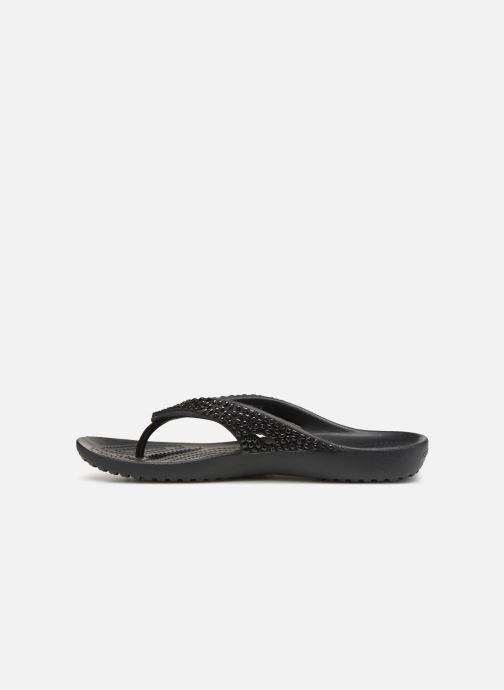 Zehensandalen Crocs Kadee II Embellished Flip W schwarz ansicht von vorne