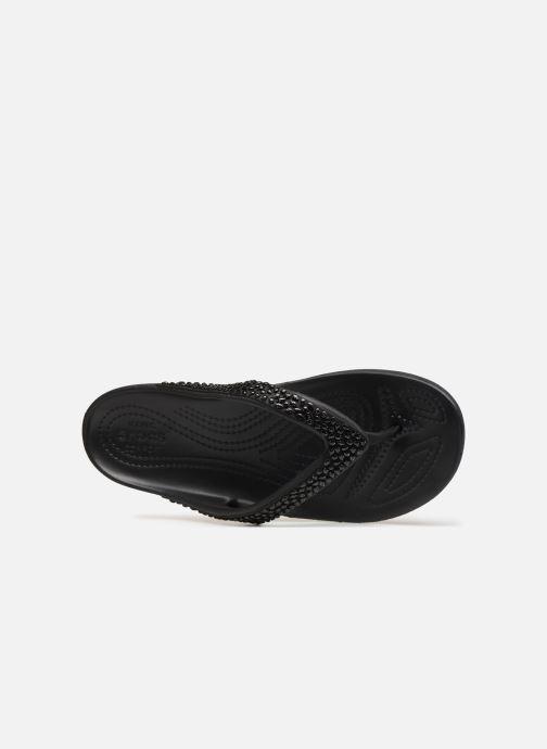 Zehensandalen Crocs Kadee II Embellished Flip W schwarz ansicht von links