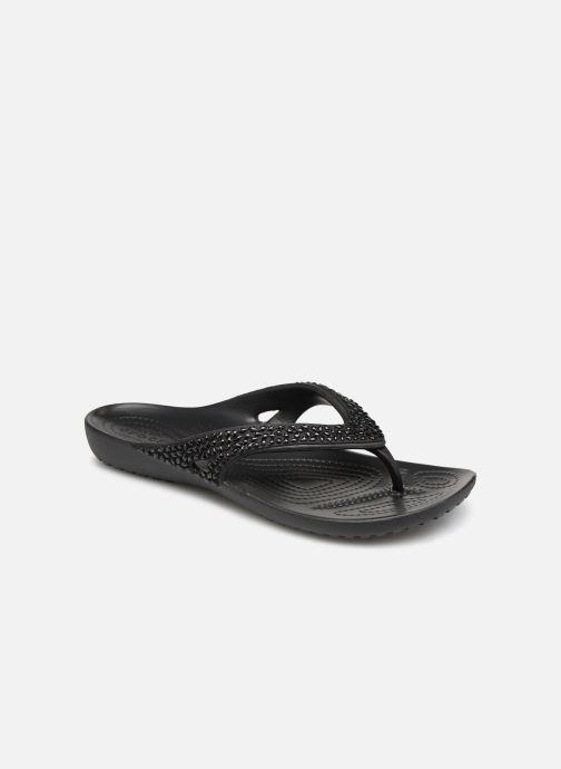 Tongs Crocs Kadee II Embellished Flip W Noir vue détail/paire
