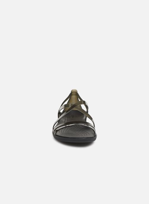 63dd6de3afd Sandales et nu-pieds Crocs Isabella Strappy Sandal W Noir vue portées  chaussures