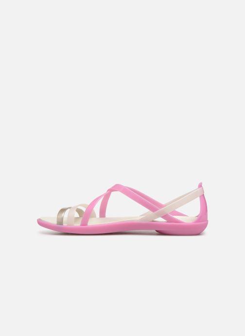 Sandales et nu-pieds Crocs Isabella Strappy Sandal W Rose vue face