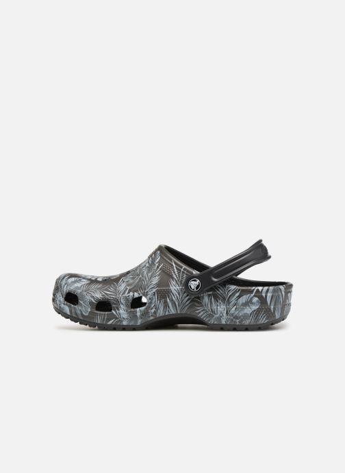 Sandales et nu-pieds Crocs Classic Seasonal Graphic Clog M Noir vue face