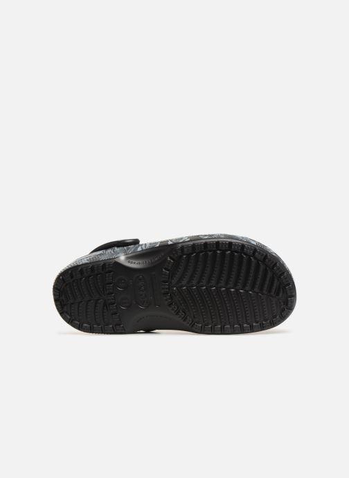 Sandales et nu-pieds Crocs Classic Seasonal Graphic Clog M Noir vue haut